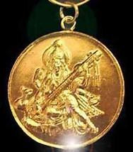 LOOK Gold Plated Saraswati Goddess OM Silver Charm Hindu - $44.63