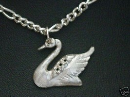 LOOK Swan Bird Sterling Silver Charm pendant Jewelry .925 - $14.16