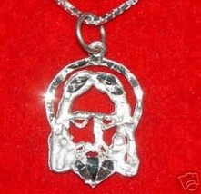 LOOK RELIGIOUS JESUS Silver Pendant Charm Detailed Jewelry - $13.04