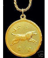 LOOK Taurus Pendant Gold Plated Zodiac Charm Jewelry Star - $19.08
