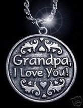 LOOK New Grandpa Sterling Silver Love Pendant Charm Jewelry - $41.09