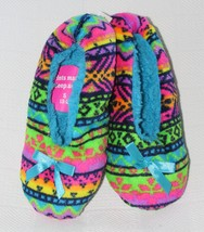 Justice Girls Fair Isle Slippers - Multi Color Size: S