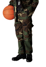 Kids Boys Woodland Forest Camo Military Style BDU Airsoft Pants Fatigues - $18.80+