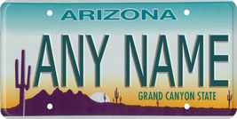 Custom Personalized Arizona golf cart, mobility scooter or go cart license plate - $12.99
