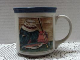 Vintage OTAGIRI JAPAN Fisherman Stoneware Coffee Mug - $8.00