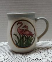 Vintage Studio Pottery PINK FLAMINGO Coffee Mug // RETRO Coffee Cup - $8.00