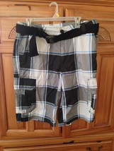 mens plaid shorts belted size 34 by surplus  - $36.99