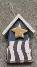 1681B-Patriotic Bird House Wood  - $2.95