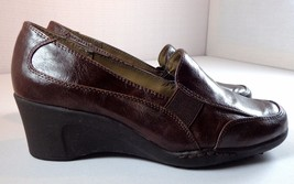 Aerosoles Wedge Heel Loafer Womens Size 8 W Brown Slip On Shoes - $39.95