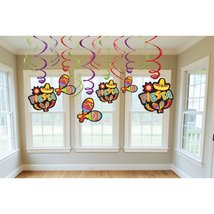 Amscan 203183 Fiesta Value Pack Hanging Swirl Decorations - $10.99