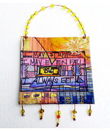 Painting Motivational Mixed Media Wall Art, Hea... - $12.50