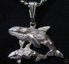 COOL 0268 Sterling Silver Whale Family Bond Charm Pendant - $21.24