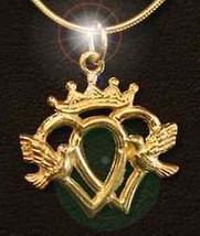 COOL 0573 Luckenbooth Claddagh Pendant charm gold plated - $30.93