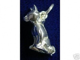 COOL 0903 solid  3D cat pendant charm Jewelry silver - $22.20