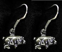 COOL 3D Piggy Piglet Earrings Sterling Silver jewelry oink - $801,01 MXN