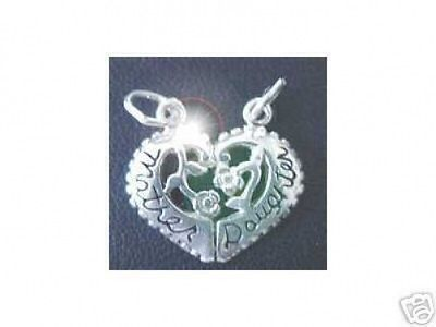 Primary image for COOL 2001 Silver Mother Daughter Bond Love split charm rose