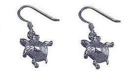 COOL Adorable Sea Turtle earrings jewelry Sterling silver - $29.68