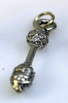COOL American Jousting event Pugil Stick Gladiator Tournament Sterling Silver ch - $14.83