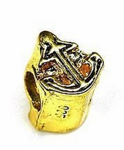 COOL Anchor Charm european bead jewelry Sailor gold plated - $24.09