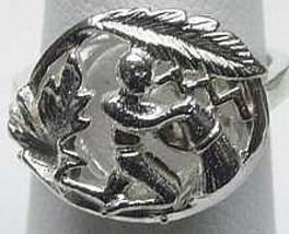 COOL AQUARIUS Silver Zodiac Astrology sign Horoscope ring - $22.20