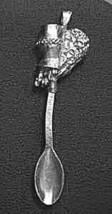 COOL AQUARIUS SPOON Silver .925 Pendant Charm Zodiac Baby - $27.91