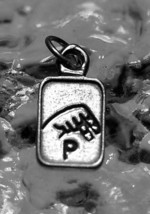 COOL Authentic Real Sterling Silver .925 Charm Initial Letter P sign language Je - $16.42