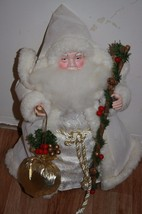 Large Santa Claus Tree Topper or Table Mantle Christmas Display Decorati... - $24.74