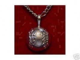Cool Baseball Pendant Genuine Sterling Silver .925 Sports Charm Soft Ball Jewelr - $19.31