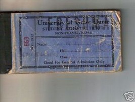 1931-32 University of Notre Dame Athletic Ticket Book - $98.95