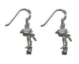 COOL Outboard boat motor Engine PROPELLER silver earrings - $755,42 MXN