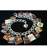 STEPHEN KING Book Charms Bracelet 17 Gorgeous b... - $23.99