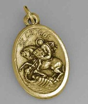 COOL Saint George the Dragon Military Army Protection Gold pltd Sterling silver - $24.73