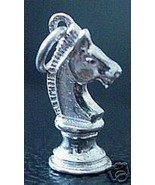 COOL Chess The Knight Horse Silver 925 pendant Charm Jewelry - $24.09