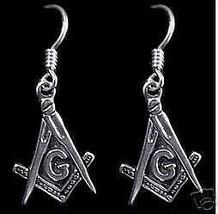 COOL New Masonic Mason Sterling Silver Earrings Jewelry - $37.49