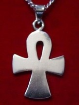 COOL Egypt FAT Ankh Egyptian Sterling Silver Pendant charm - $25.82