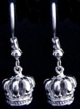 COOL New Medieval Sterling Silver 925 Crown Earrings Jewelry - $35.57
