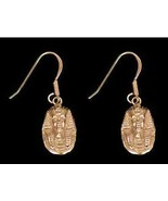 COOL Egypt jewelry earrings King tut vermeil gold silver - $37.49