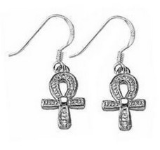 COOL Egyptian Ankh Life Earrings Egypt Sterling Silver .925 - $25.99