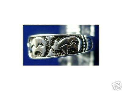 COOL New Aztec Bear Tribal ring sterling silver .925 Jewelry