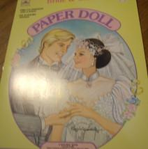 1988 Bride & Groom Paper Doll Book (Unused) Gol... - $13.98