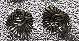 COOL Tribal Chief spiritual Sterling Silver Stud Earrings - $22.75