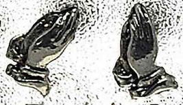 COOL Jesus praying hand Sterling Silver Stud Earring Jewelry - $24.73