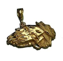 COOL Jesus Praying Hands Mercy Gold vermeil silver 925 charm - $36.21
