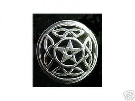 COOL Silver PENTAGRAM Knot of Infinity CELTIC Ring Jewelry - $29.82