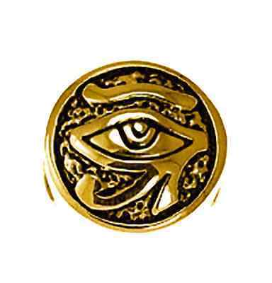 Primary image for COOL Gold pltd Sterling Silver Egyptian Eye of Horus BEAD Charm fits jewelry bra