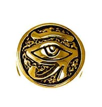 COOL Gold pltd Sterling Silver Egyptian Eye of Horus BEAD Charm fits jew... - $26.07