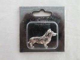 "LITTLE GIFTS CORGI DOG CHARM MAGNET STEEL METAL NIP 1"" MINIATURE - $4.94"