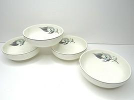 "4 VTG Rhythm Lotus Hai Homer Laughlin 5 1/4"" Soup Salad Cereal Bowls MCM Decor - $34.62"