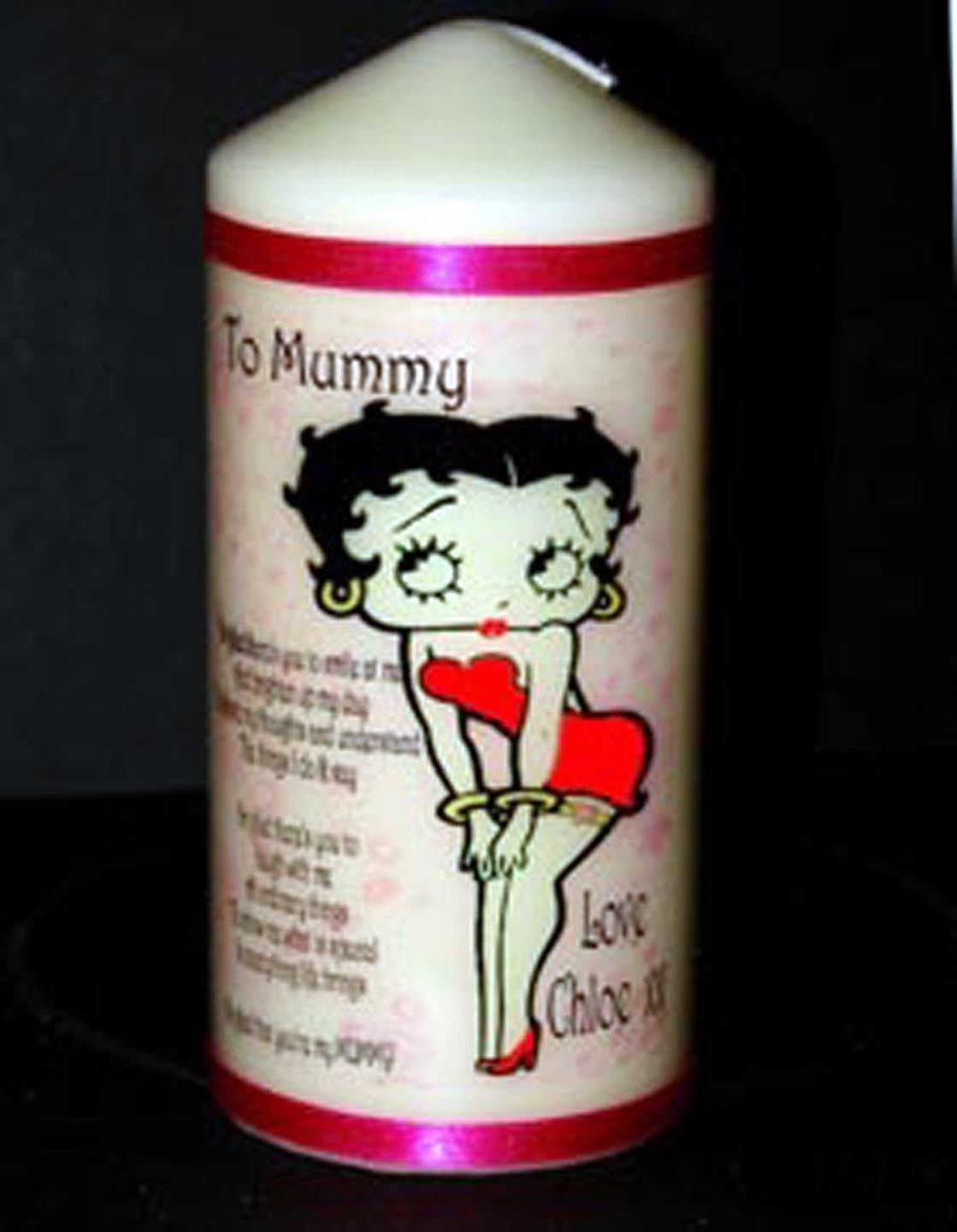 Personalised Betty Boop Gift Mother Birthday Present Mum by Cellini Candles #4
