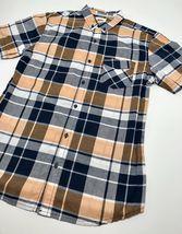 Men's Levi's Peach | White | Navy Plaid S/S Button Down Shirt - $69.00